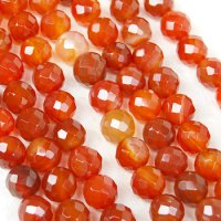 連 カーネリアン(オレンジ) カット 12mm    品番: 3956