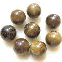丸玉 タイガーアイ木化石 12mm    品番: 8426