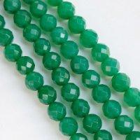 連 グリーンアゲート(草緑) カット 12mm    品番: 4025