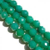 連 グリーンアゲート(深緑) カット 12mm    品番: 8176