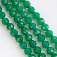 連 グリーンアゲート(草緑) カット 10mm    品番: 4024