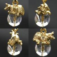 干支ストラップ 丑(うし) 水晶◆10mm玉◆ 品番:8126