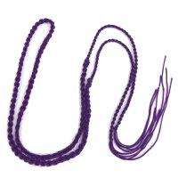 ネックレス紐 二重三つ編 紫 約90cm    品番: 9488