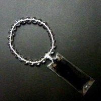 片手念珠 水晶 14mm    品番: 9855