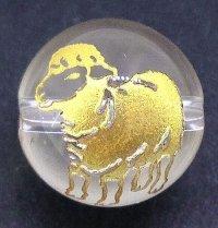 未(新柄) 水晶(金) 10mm    品番: 6863