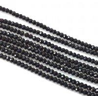 【値下げ】連 ブラックスピネル AAA ソロバンカット 約2*1.5mm(39cm)  品番: 5923
