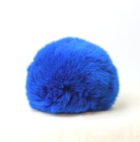 もふもふ♪ラビットファー ビビットブルー 約8cm  品番: 7970