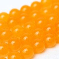 連 染クォーツァイト オレンジ 丸  6mm    品番: 9145