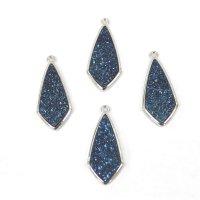 ドゥルージー SV枠ダイヤ型 ブルー 3cm×1.3cm  品番: 9909