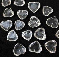 ハート石 水晶カット 片穴(14〜18mm)    品番: 8357