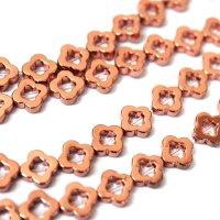 連 ヘマタイト ピンクゴールドメッキ 変形 フラワー 8mm  品番: 10055