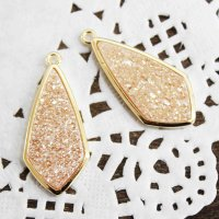 ドゥルージー GL枠ダイヤ型 オレンジゴールド 3cm×1.3cm  品番: 10417