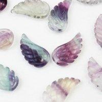 【一粒売り】バラ石 天使の羽 翼 フェザー フローライト  品番: 10717