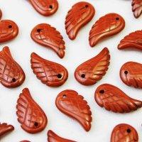 【一粒売り】バラ石 天使の羽 翼 フェザー レッドジャスパー  品番: 10719