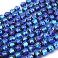 連 とんぼ玉 ホタルガラス 蓄光無ver ブルー 丸 10mm  品番: 10840