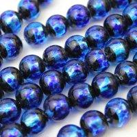 連 とんぼ玉 ホタルガラス 蓄光無ver ブルー 丸 12mm  品番: 10841