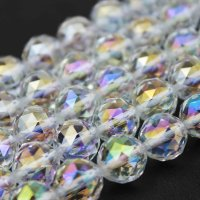 連 レインボーオーラ ダイヤモンドカット 8mm  品番: 11888