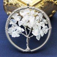 ペンダントトップ 世界樹 ワールドツリー さざれ 水晶   品番: 10928
