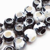 連 キャンディクォーツァイト ブラック くりぬき 丸 ドーナツ  12mm   品番: 11129