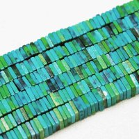 連 アゲート 平型 スクエア ブルー×グリーン 4×1mm  品番: 11138