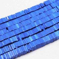 連 アゲート 平型 スクエア ブルー 4×1mm  品番: 11139