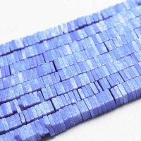 連 アゲート 平型 スクエア ライトブルー 4×1mm  品番: 11135