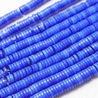 連 アゲート ソロバン ボタン ブルー 4×1mm  品番: 11133