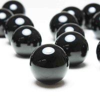 丸玉 チベット産 モリオンTOPランク 高品質 美しい光沢 漆黒の色合い 約20mm  品番: 7643
