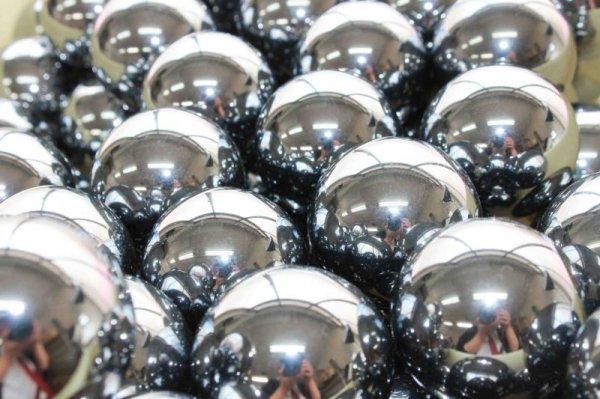 画像2: 高純度 テラヘルツ 丸玉 スフィア 約35mm マッサージなどに♪ 品番: 11668