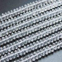 連 合成 クリスタル 水晶 ソロバンカット 6mm×3mm    品番: 11867