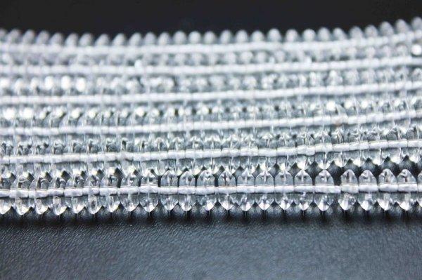 画像2: 連 合成 クリスタル 水晶 ソロバン 6mm×3mm    品番: 11868