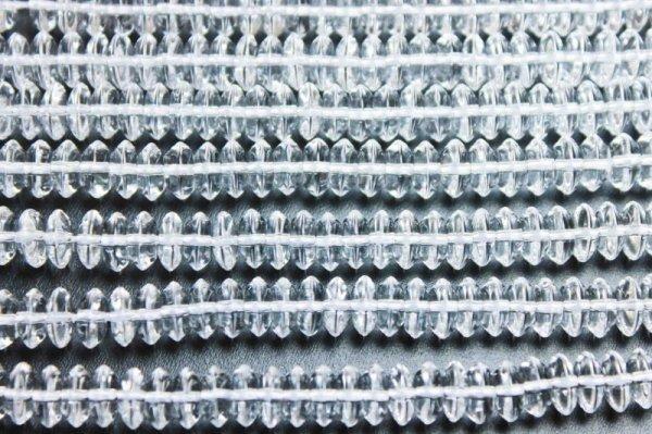 画像3: 連 合成 クリスタル 水晶 ソロバン 8mm×3mm    品番: 11869