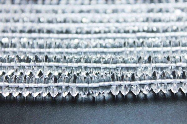 画像2: 連 合成 クリスタル 水晶 ソロバン 8mm×3mm    品番: 11869