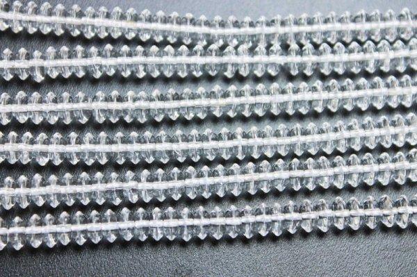 画像3: 連 合成 クリスタル 水晶 ソロバン 6mm×3mm    品番: 11868