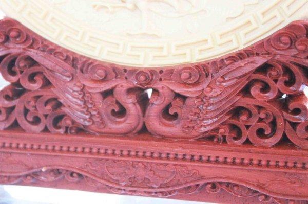 画像4: 【当店オリジナル】 柘植の木 彫り物 置物 四神 台座付き 品番: 10179