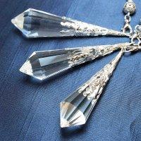 装飾ペンデュラム 水晶 クリスタル シルバーカラー 品番: 10223