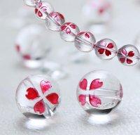 【春アイテム特集】 サクラ 水晶(ピンク) 10mm 桜 さくら 品番: 9312