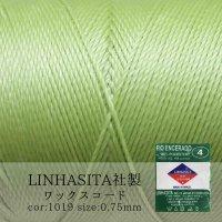 ワックスコード LINHASITA社製 メロン 0.75mm 約210m ロウ引き紐 I 1019  品番: 10712