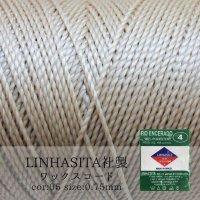 ワックスコード LINHASITA社製 テディベア 0.75mm 約210m ロウ引き紐 B 05  品番: 10664