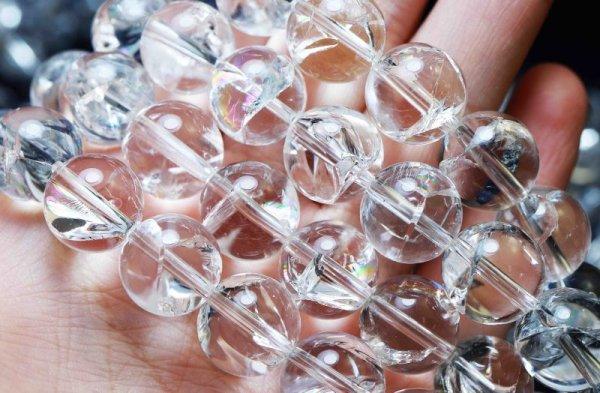 画像5: 連 ヒマラヤ産 アイリスクォーツ  虹入り水晶 丸 12mm 品番: 11905