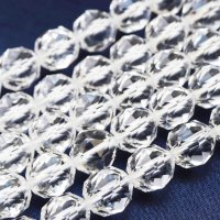 連 クリスタル(ブラジル水晶) スターカット 10mm    品番: 5825