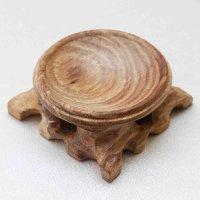 木の丸玉台 ウッドディスプレイ Lサイズ 天然木 丸玉台座  品番: 7045