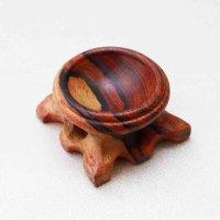 木の丸玉台 ウッドディスプレイ 天然木 Sサイズ ミニサイズ 丸玉台座  品番: 6026