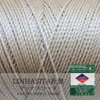 ワックスコード LINHASITA社製 テディベア 1.0mm 約160m  ロウ引き紐 LINHASITAカラーナンバー05  品番: 12000