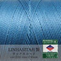 ワックスコード LINHASITA社製 ロイヤルブルー 1.0mm 約160m  ロウ引き紐 LINHASITAカラーナンバー226  品番: 12019