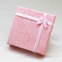 プレゼント ギフト ボックス レディース リボン付き ペーパーボックス 紙箱 ピンク 桃色  品番:12104