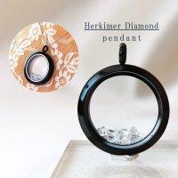 ペンダントトップ ハーキマーダイヤモンド ブラック 夢見の石 さざれ 夢を現実化 出産のお守り 品番:12341