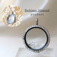 ペンダントトップ ハーキマーダイヤモンド 石有シルバー 夢見の石 さざれ 夢を現実化 出産のお守り 品番:12345