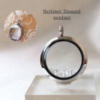 ペンダントトップ ハーキマーダイヤモンド シルバー 夢見の石 さざれ 夢を現実化 出産のお守り 品番:12340