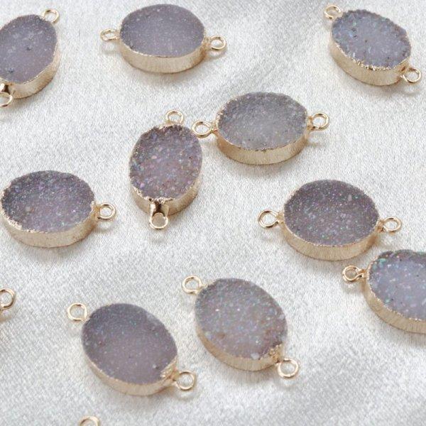 画像1: コネクトパーツ ドゥルージー 団円 二つ穴 GL ゴールド 1個 品番: 12401